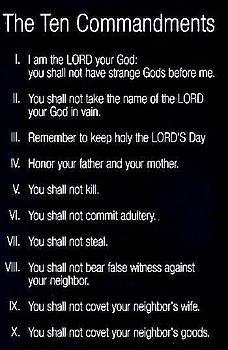Ten Commandments by Al Pascucci