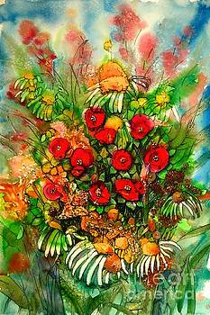 Ten Red Flowers by Shirley Sykes Bracken