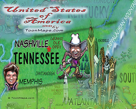 Tennessee Fun MAp by Kevin Middleton