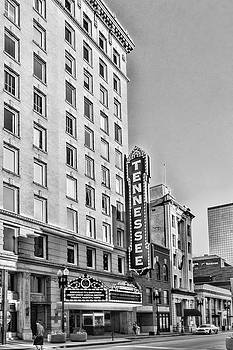 Sharon Popek - Tennessee Theatre Marquee Building Black and White