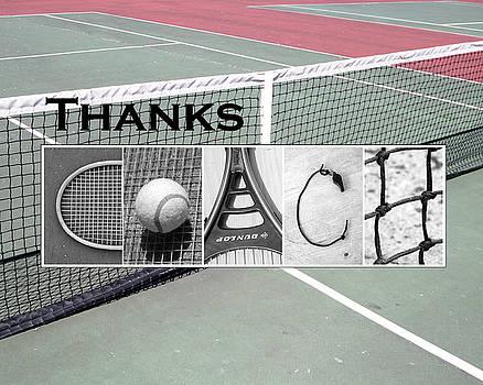 Tennis Coach Alphabet Art by Kathy Stanczak