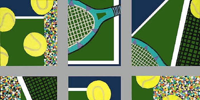 Tennis Collage by Mike Weinstein