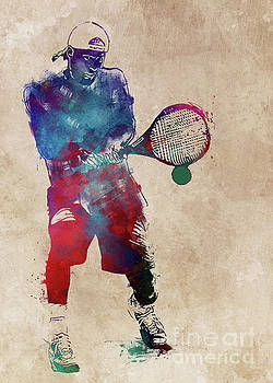 Justyna Jaszke JBJart - Tennis player sport art