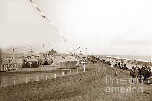 California Views Mr Pat Hathaway Archives - Tent City View South down Silver Strand Coronado  1905