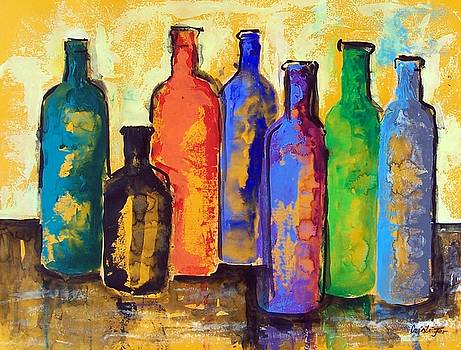 Tequila bottles in rainbow mood  by Cristiana Mar