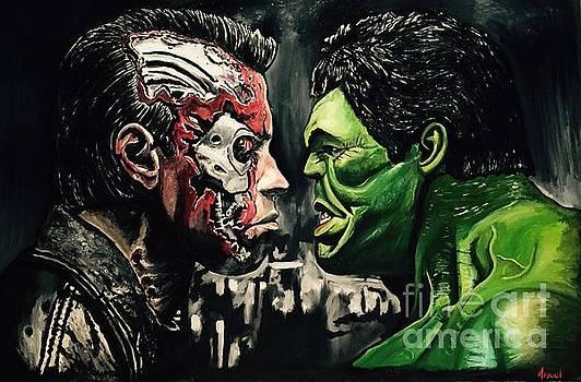 Terminator vs hulk by Michael Iglesias