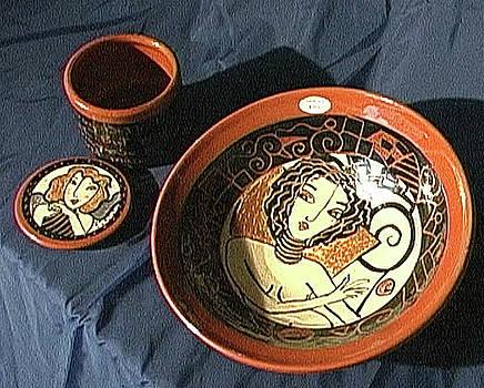 Terra Cotta Bowl by Kathleen Raven