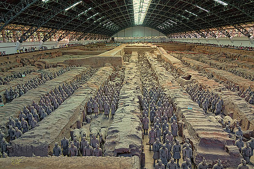Terracotta Army Pit 1 by Rick Lawler