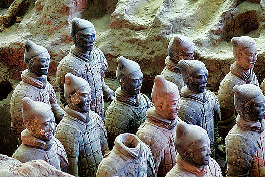 Terracotta Warriors Detail by Rick Lawler