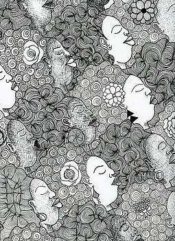 Tessellated Afros  by Unicia Buster