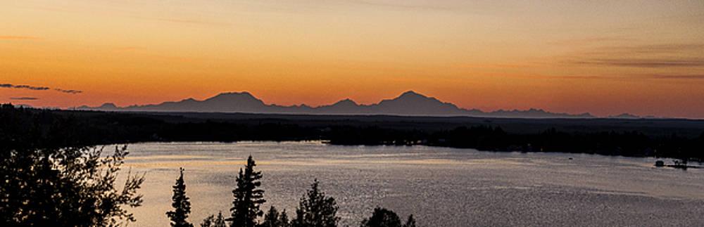 Alaska Range from Big Lake by Kyle Lavey