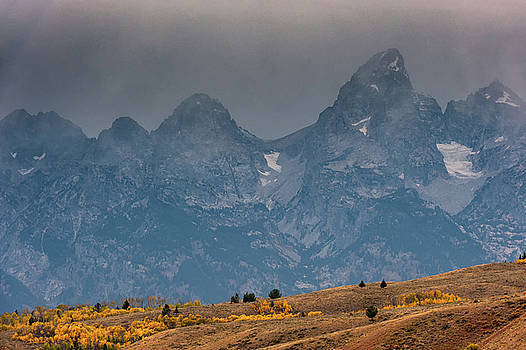 Tibor Vari - Teton Mountain Range in Fall Colors