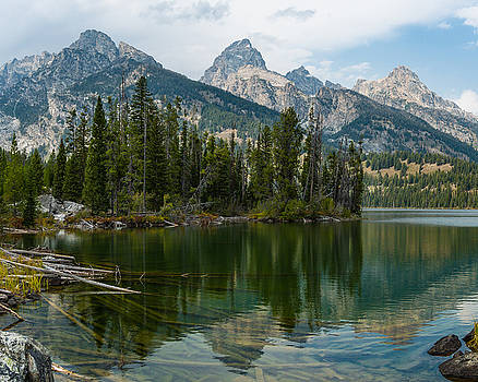 Teton mountains from Taggart Lake by Paul Duncan