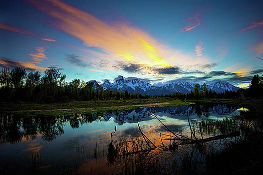 Teton Sunset by Norman Hall