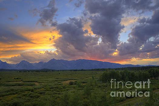 Teton Sunset by Scott Wood