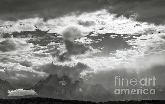 Tetons and Storm Clouds by Sharon Seaward