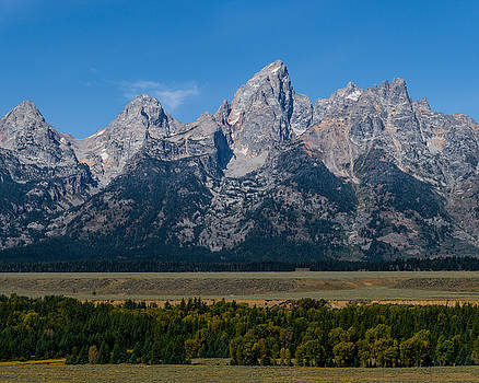 Tetons from Jackson Hole by Paul Duncan