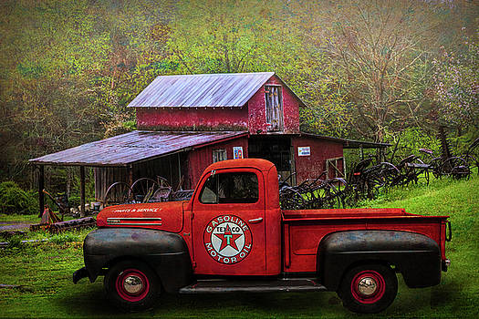 Debra and Dave Vanderlaan - Texaco Truck on a Smoky Mountain Farm in Colorful Textures