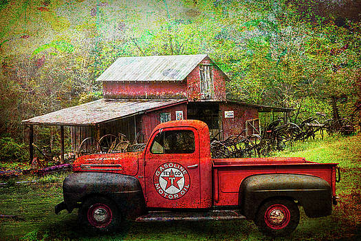Debra and Dave Vanderlaan - Texaco Truck on a Smoky Mountain Farm in Painted Textures