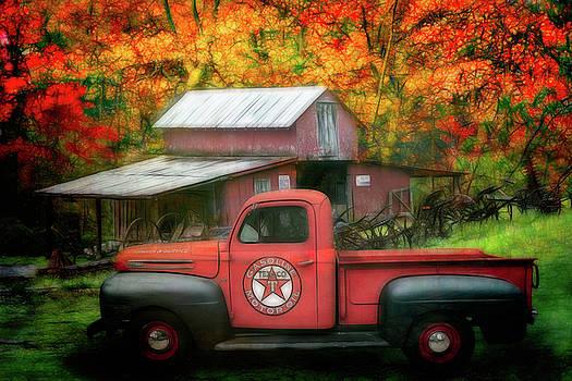 Debra and Dave Vanderlaan - Texaco Truck on a Smoky Mountain Farm Painting