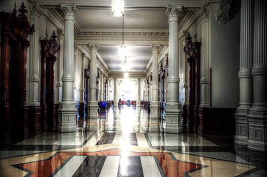 Texas Capitol hallway by Roy Nierdieck