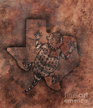 Texas Horned Toad by Monica Carrell
