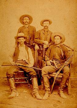 Texas Rangers at Rio Grande City Texas circa 1885 by Peter Gumaer Ogden