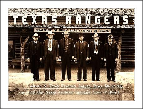 Peter Gumaer Ogden - Texas Rangers Company B at their Dallas Headquarters 1938