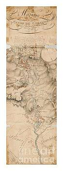 Peter Ogden - Texas Revolution Santa Anna 1835 Map for the Battle of San Jacinto with border