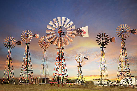 Texas Windmills by Katherine Worley