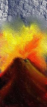 Textural Volcano by Hannah Starrett Wright