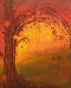 Textured Fall - Tree Series by Brenda O'Quin
