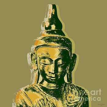 Thai Buddha #4 Pop Art Warhol style print.  by Jean luc Comperat