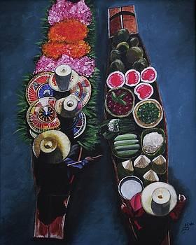 Thai Floating Market by Kim Selig