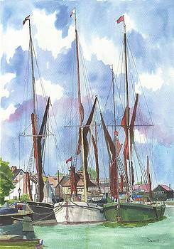 Thames Barges by Phil Davis