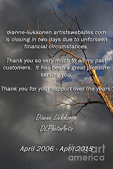 Thank you and goodbye. by Dianne Liukkonen