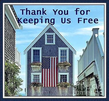 Sharon Williams Eng - Thanks for Keeping Us Free Card