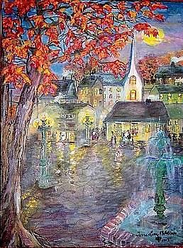 Thanksgiving Town by Antoinette Mcfadden