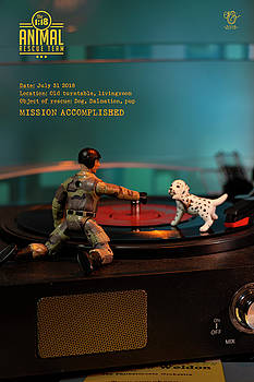 The 1-18 Animal Rescue Team - Dog on turntable by Martine Carlsen