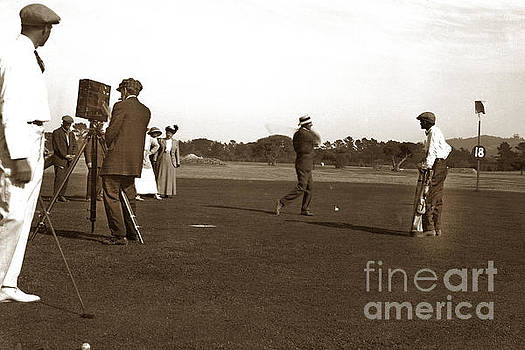 California Views Archives Mr Pat Hathaway Archives - The 18th at Old Del Monte Golf coursewith film crew Circa 1900