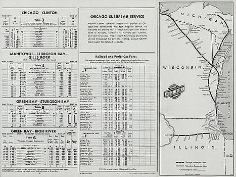 Chicago and North Western Historical Society - The 400 Route Map