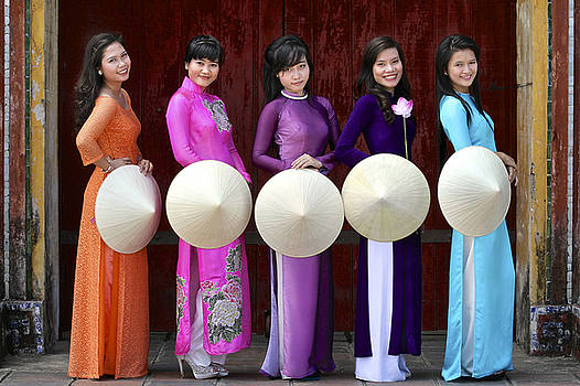 The 5 Ao Dai's... by John Moulds