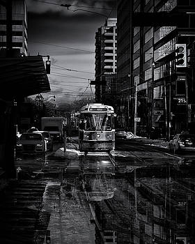 The 512 St. Clair Streetcar Toronto Canada Reflection by Brian Carson
