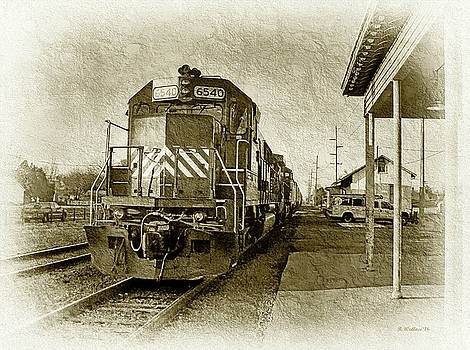 The 6540 Arriving In Harrington - Sepia by Brian Wallace