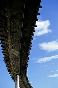 Sami Sarkis - The A55 viaduct seen from underneath in Marseille