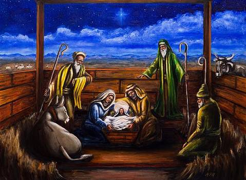 The Adoration of the Shepherds by Kevin Richard