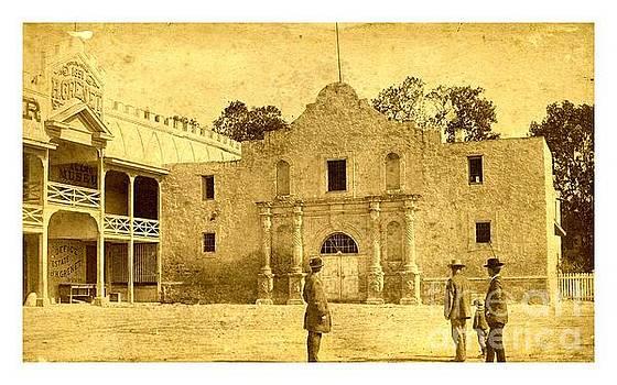 Peter Gumaer Ogden - The Alamo San Antonio Texas circa 1880 Albumen Photograph