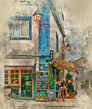 The Albar Coffee Shop in Alvor. by Brian Tarr
