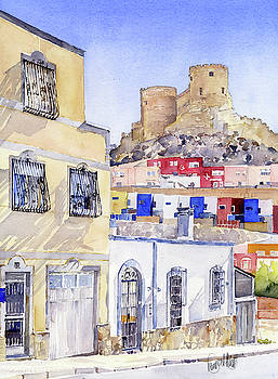 The Alcazaba from La Chanca Almeria by Margaret Merry