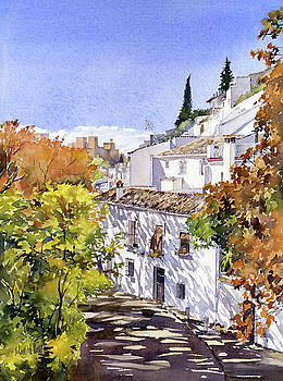 The Alhambra from Sacromonte Granada by Margaret Merry